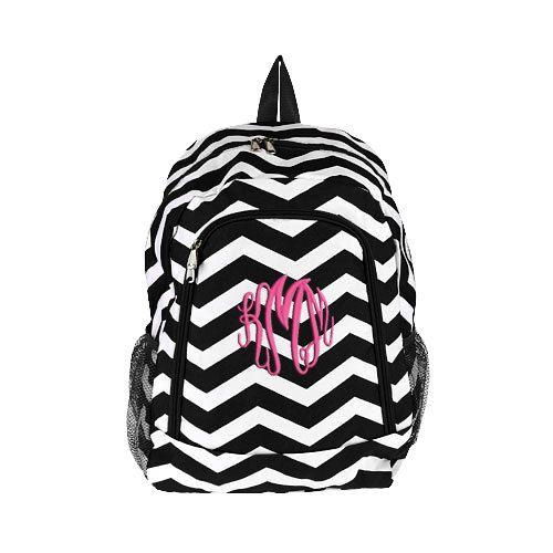Black Chevron Personalized Backpack   by SomethingYouGifts on Etsy, $31.95