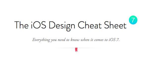 The iOS 7 Design Cheat Sheet