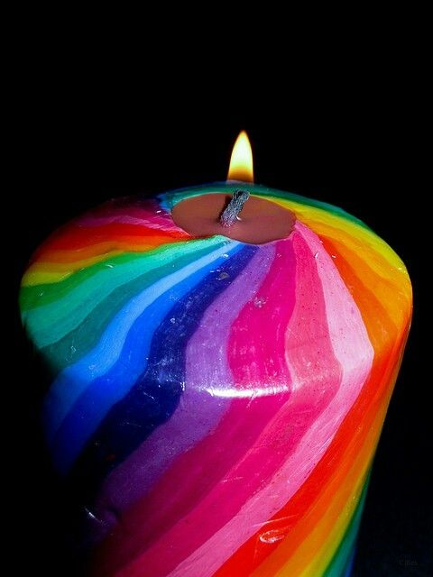 Bougie multicolore