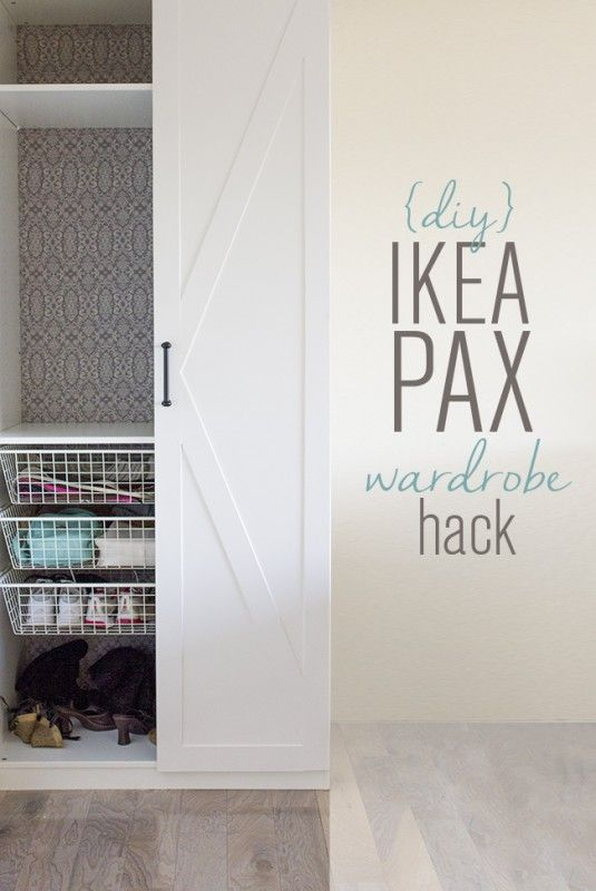 Beautiful IKEA Pax wardrobe updates, inside and out, by Jenna Sue Designs