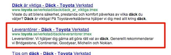 Toyota Bildäck - Sök på Google. Varför byter Google ut din meta description on title? #google #seo