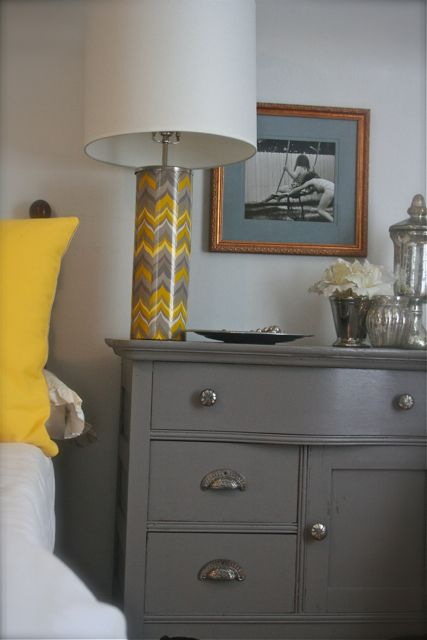 Love the grey painted furniture!
