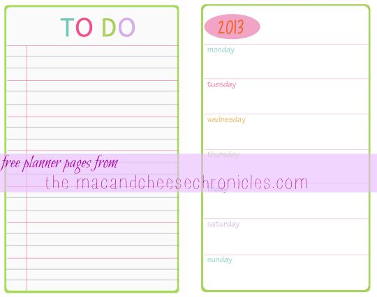 28 best Planners  Printables images on Pinterest Organizers