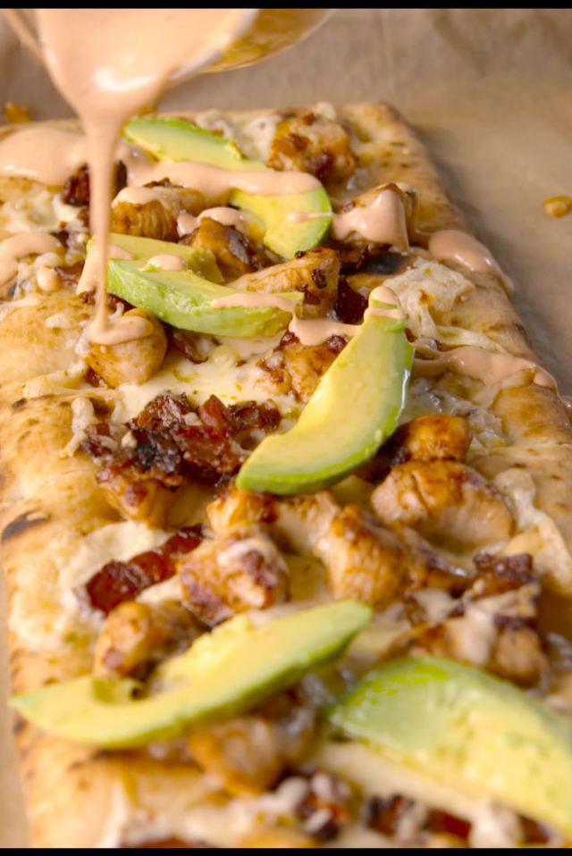 Chow down on the holy trinity: Chicken, bacon and ranch. Get the recipe from Delish.