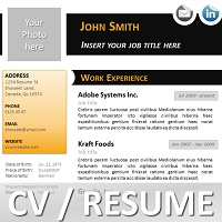 Black N Orange Curriculum Vitae Template For Powerpoint  Resume