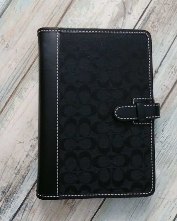 Coach Black Signature Canvas Agenda Planner Address Book Organizer   | eBay