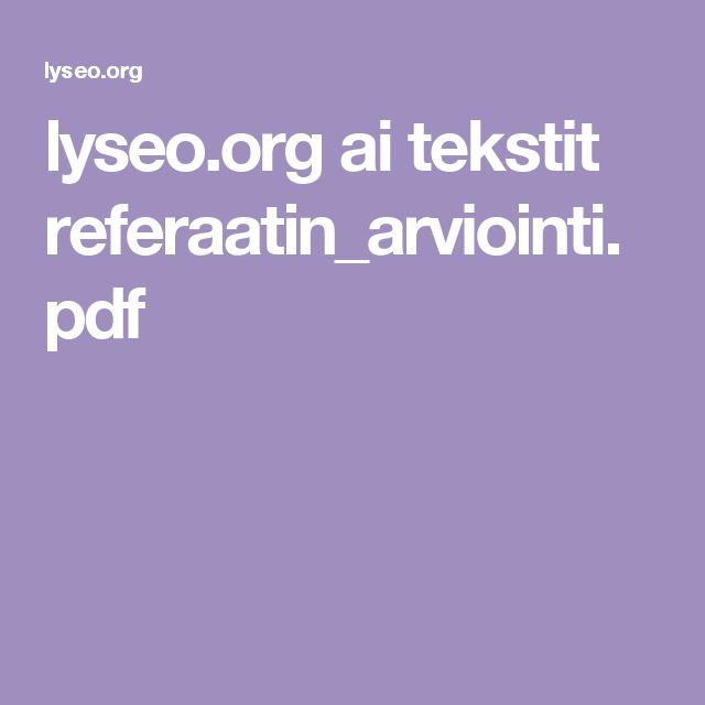 lyseo.org ai tekstit referaatin_arviointi.pdf