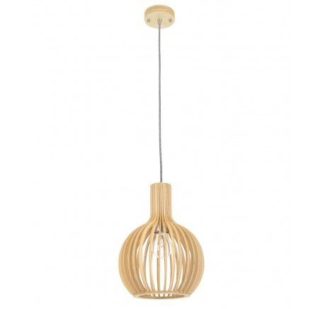Malmo 1 Light 230mm Pendant in Natural Wood |Beacon Lighting $159 for reception x3 required