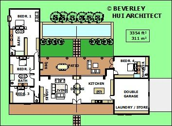 L Shaped House on single story house plans with foyers