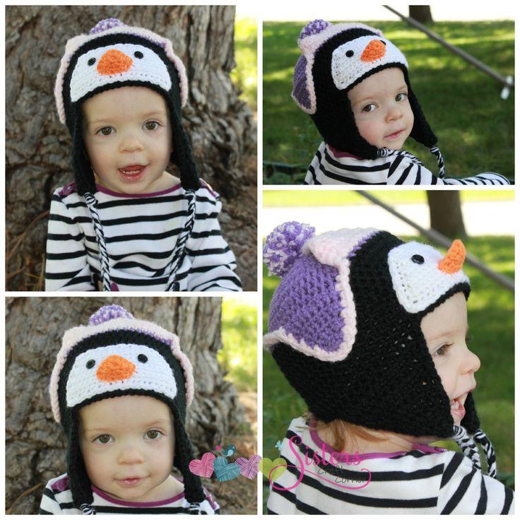 Crochet Penguin Hat - Animal Hat - Newborn Photo Prop - Baby Penguin Hat - Child Penguin Hat - Winter Hat