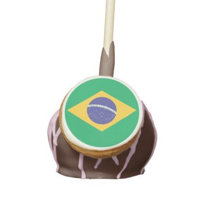 Brazil flag quality cake pops - kitchen gifts diy ideas decor special unique individual customized