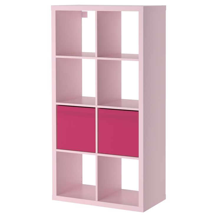 kallax dr na shelving unit with 2 inserts light pink. Black Bedroom Furniture Sets. Home Design Ideas