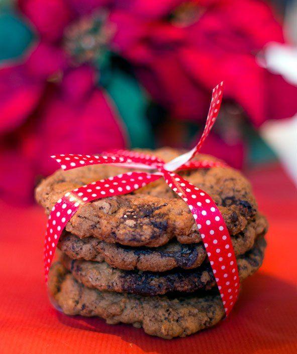 Julecookies med nøtter, appelsin og sjokolade
