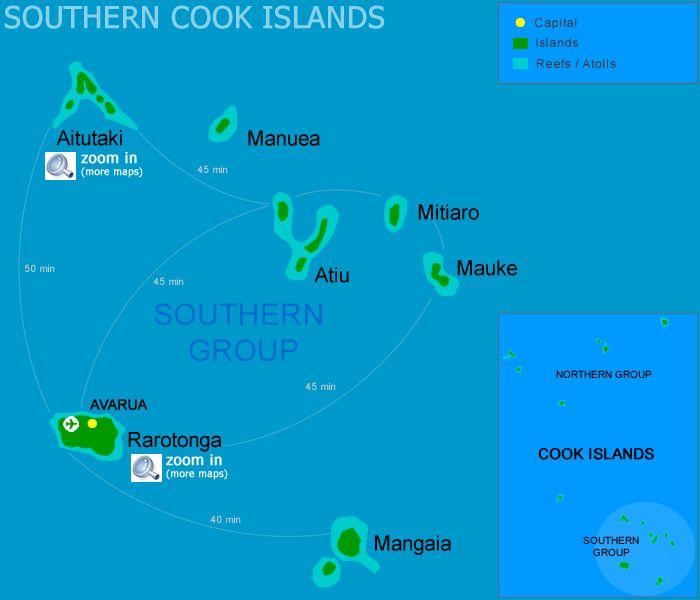 Cook Islands Beaches: Cook Islands From Australia