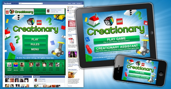 LEGO - Creationary Mobile Apps and Facebook by Dan Ferguson, via Behance