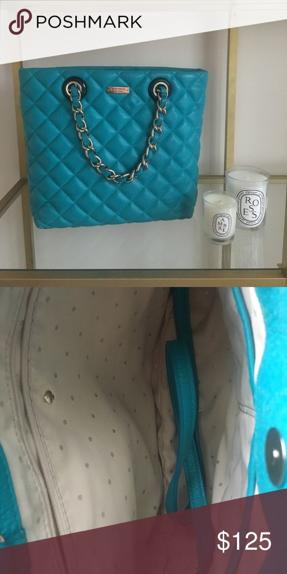 Kate Spade Gold Coast Shimmer Tote Purse A  luxe metallic-flecked quilted leather comprises this Gold Coast tote bag. Like new, comes with strap, authenticity card and dust bag. kate spade Bags Crossbody Bags