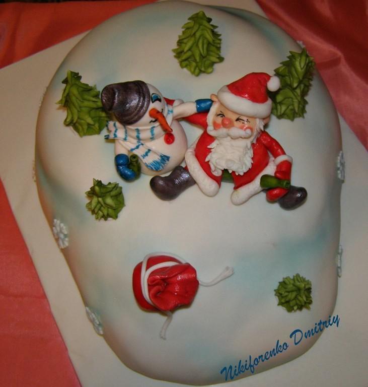 """Торт """"Новогодний разгуляй"""""""