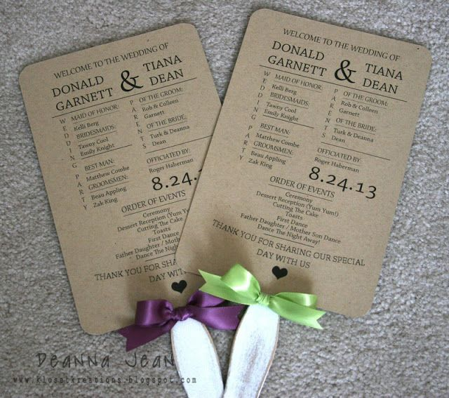 Wedding Fans ~ Deanna Dean