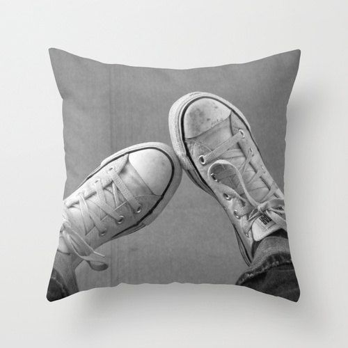 Decorative Photo Throw Pillow Cover Wallflower Converse
