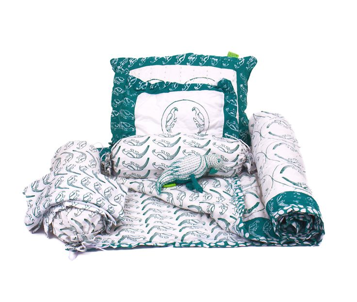 green parrott baby bedding sets.  Great for new babies and toddlers.  All organic and hand made