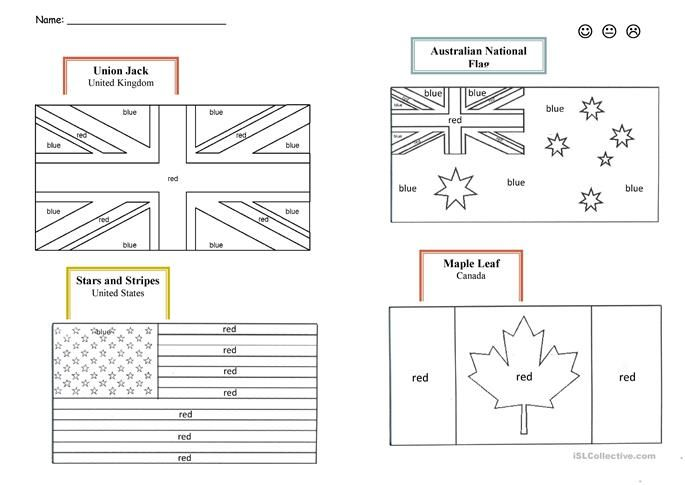 English Speaking Countries Flags English Esl Worksheets For Distance Learning And Physical Classrooms Flag Coloring Pages Britain Flag Countries And Flags