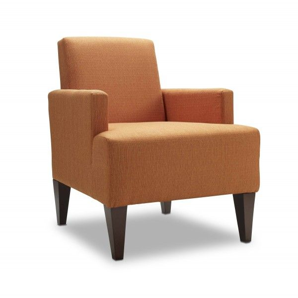 Comfortable Easy Chair In A Zesty Orange Fabric Inspired By Belgian Linens.