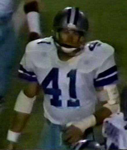 """CHARLIE WATERS (41) on """"Monday Night Football""""--September 21, 1981"""