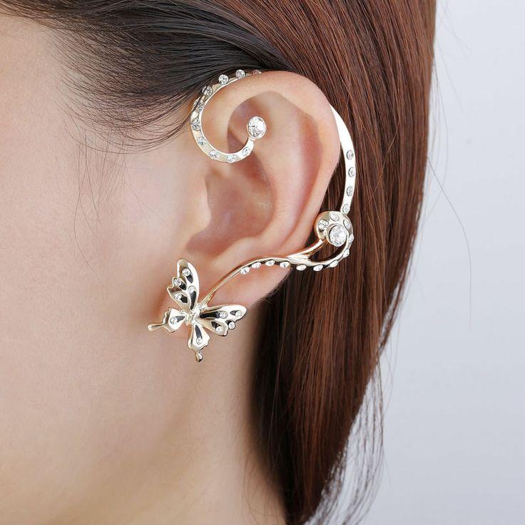 Full Ear Earrings South Indian 22k Gold Plated Full Ear ...