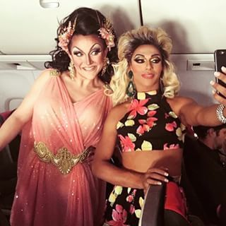 """When BenDeLaCreme and Shangela were terminally delightful in their in-flight drag.   29 Times The Queens Of """"RuPaul's Drag Race"""" Redefined Squad Goals"""
