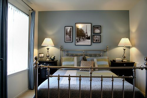 Wawa Syaida Hiasan Bilik Tidur Sempit Idea Dan Susun Atur Gray Accent Wall Bedroom Blue Accent Walls Restful Bedrooms
