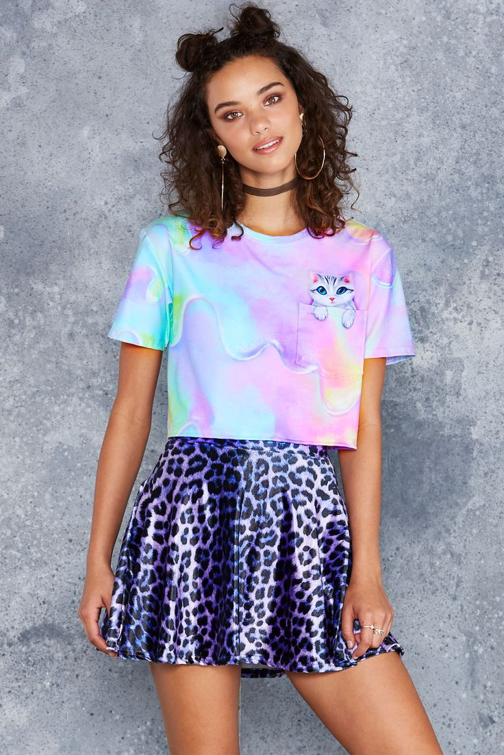 Catpanion Cropped Pocket BFT - 48HR ($65AUD) by BlackMilk Clothing