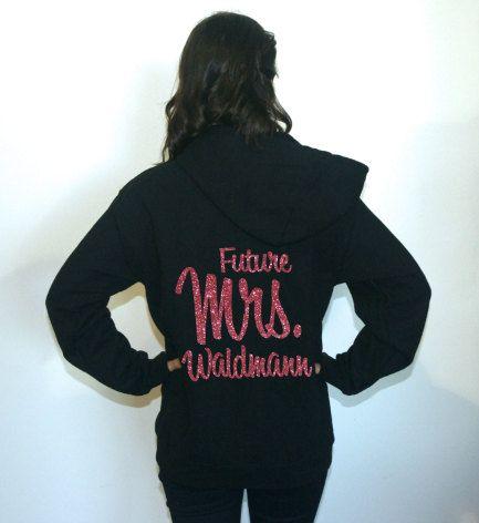 Future Mrs sweatshirt. Fleece Lined Bridal by BrideAndEntourage
