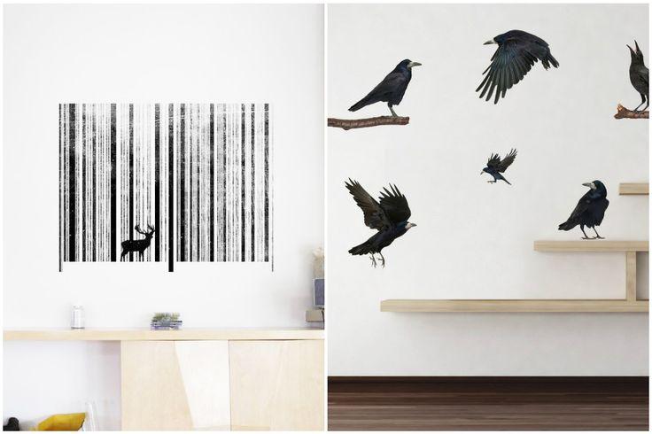 Декоративные виниловые наклейки на стене для любителей минимализма и скандинавского стиля #декор #наклейки #интерьер #decor #interior #sticker