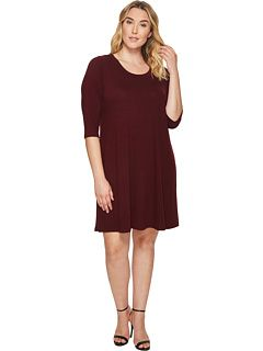Karen Kane Plus Plus Size 3/4 Sleeve Dress