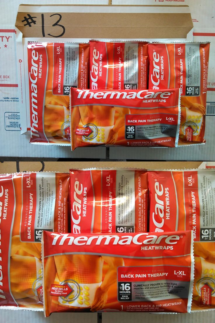 Cold and Hot Packs and Wraps: 13 (L-Xl) Lower Back Hip Thermacare Heat Wraps Pouches 2018 Free Usps Priority13 BUY IT NOW ONLY: $48.24