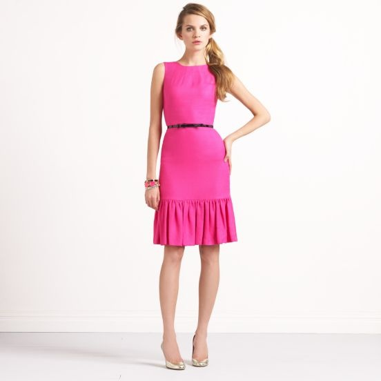 Kate Spade flounced dressStyle, Design Clothing, Spade Dresses, Hot Pink, Breakfast At Tiffany, Sirens Dresses, Schools Dresses, Kate Spade, Katespade