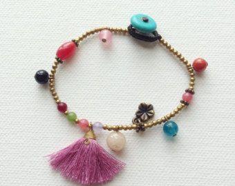 Hamsa mano amuleto pulsera amuleto fértil éxito por MarieAmulet