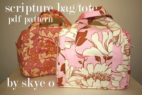 scripture bag/tote pdf pattern by skye o