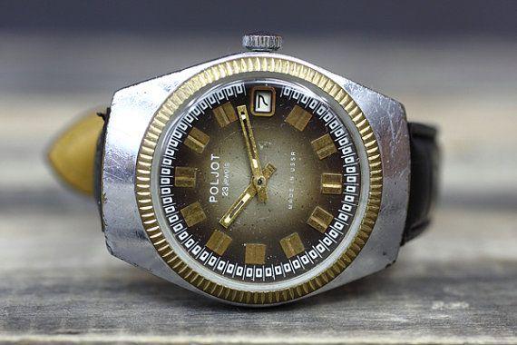 Vintage Soviet Clock Poljot / Soviet mechanical watches / USSR vintage men's watch Poljot
