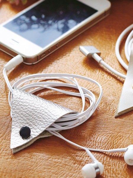 Kabelsalat Ade! Wir lieben Upcycling: 5 DIY-Ideen mit Leder                                                                                                                                                                                 Mehr