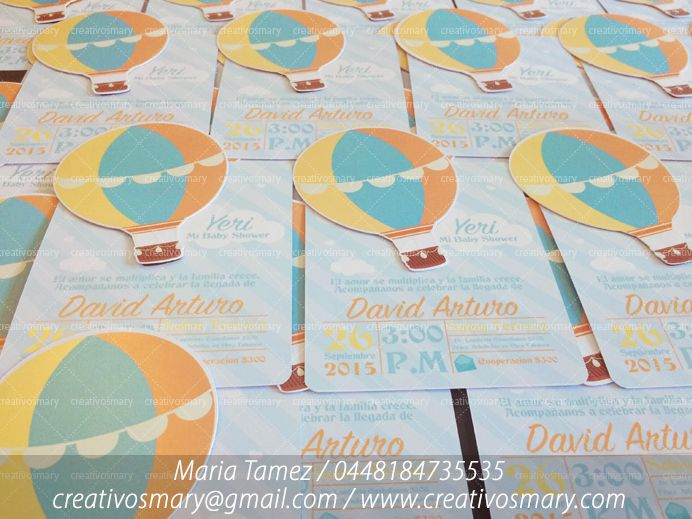 Invitaciones + libretitas para Baby Shower de David Arturo. | Diseñamos para ti...