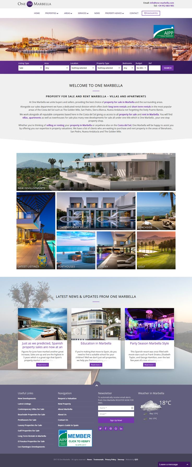 Whether you're thinking of selling or renting your property in Marbella or anywhere else on the Costa del Sol, One Marbella will be happy to assist you by offering you our expertise in property valuations. #Marbella #RealEstate #qresXML #ResalesOnline #Infocasa