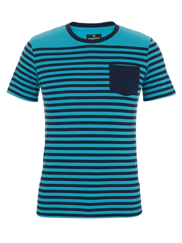 Brett Striped T-shirt Turquoise