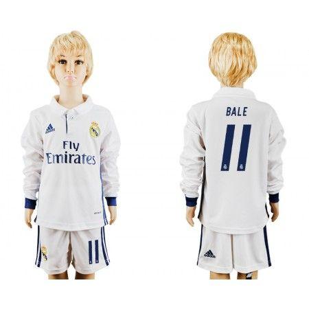 Real Madrid Trøje Børn 16-17 Gareth #Bale 11 Hjemmebanetrøje Lange ærmer,222,01KR,shirtshopservice@gmail.com