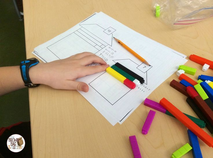 math center using these house mats - the house frames the equal number sentences. - The Brown-Bag Teacher: Using Cuisenaire Rods