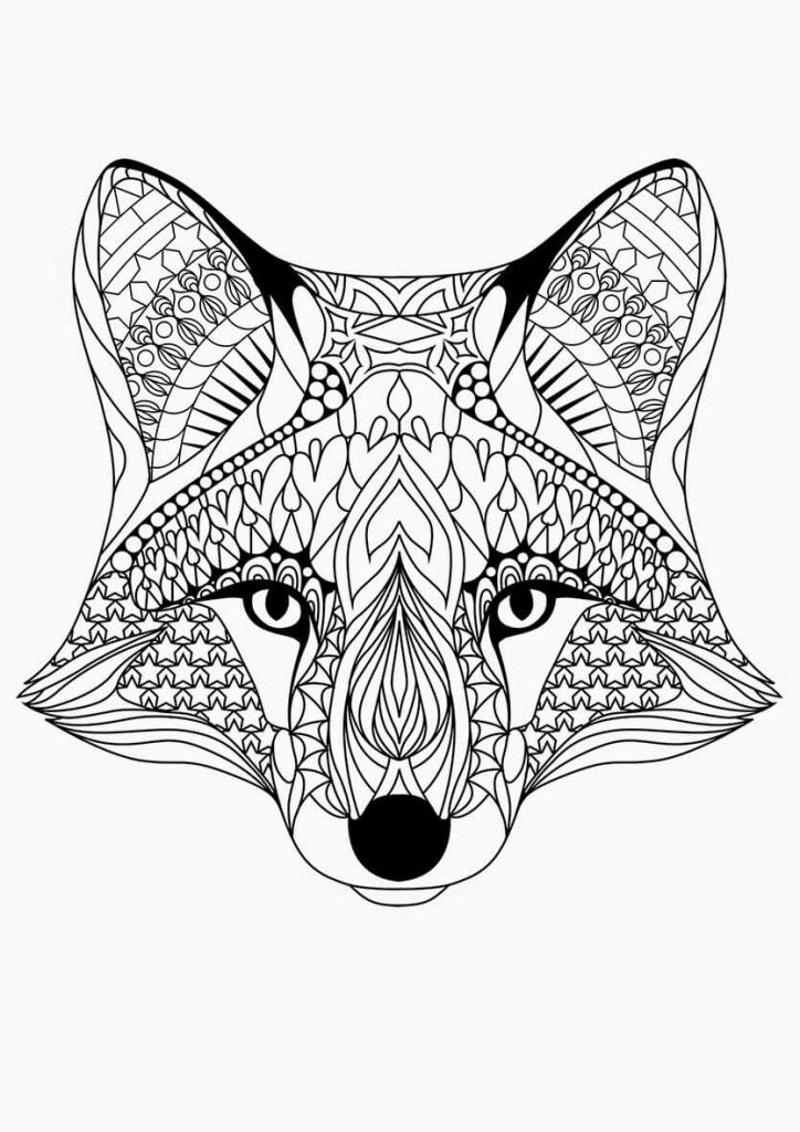 Pin By Judy Fortune On Coloring A Bic Fox Coloring Page Animal