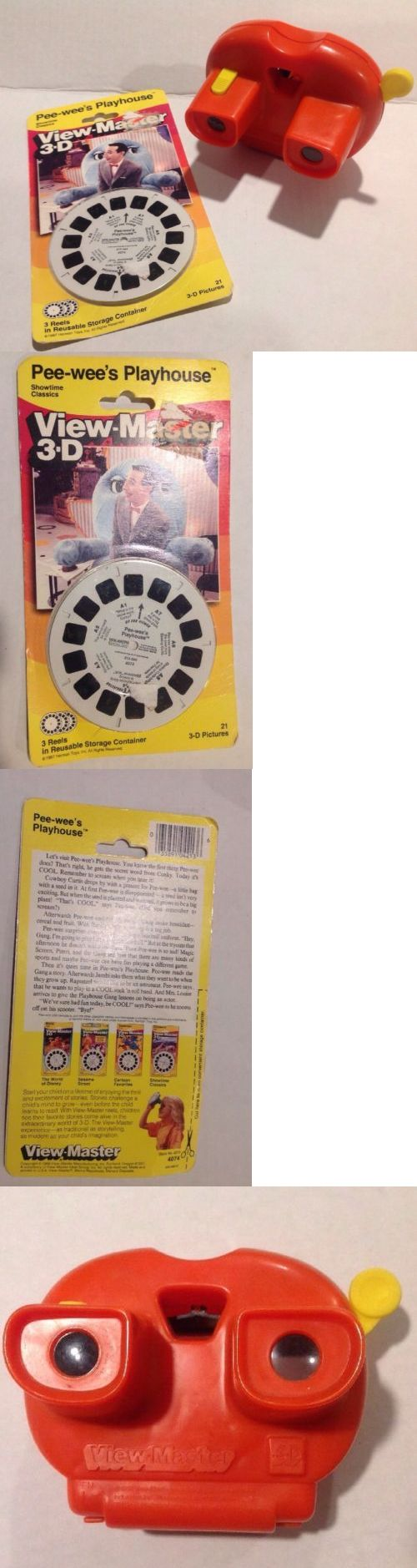 Pee-Wee Herman 20917: Vintage Lighted Viewmaster 3D And 1987 Pee Wee Herman 3 Reels Pee Wee Playhouse -> BUY IT NOW ONLY: $49.99 on eBay!