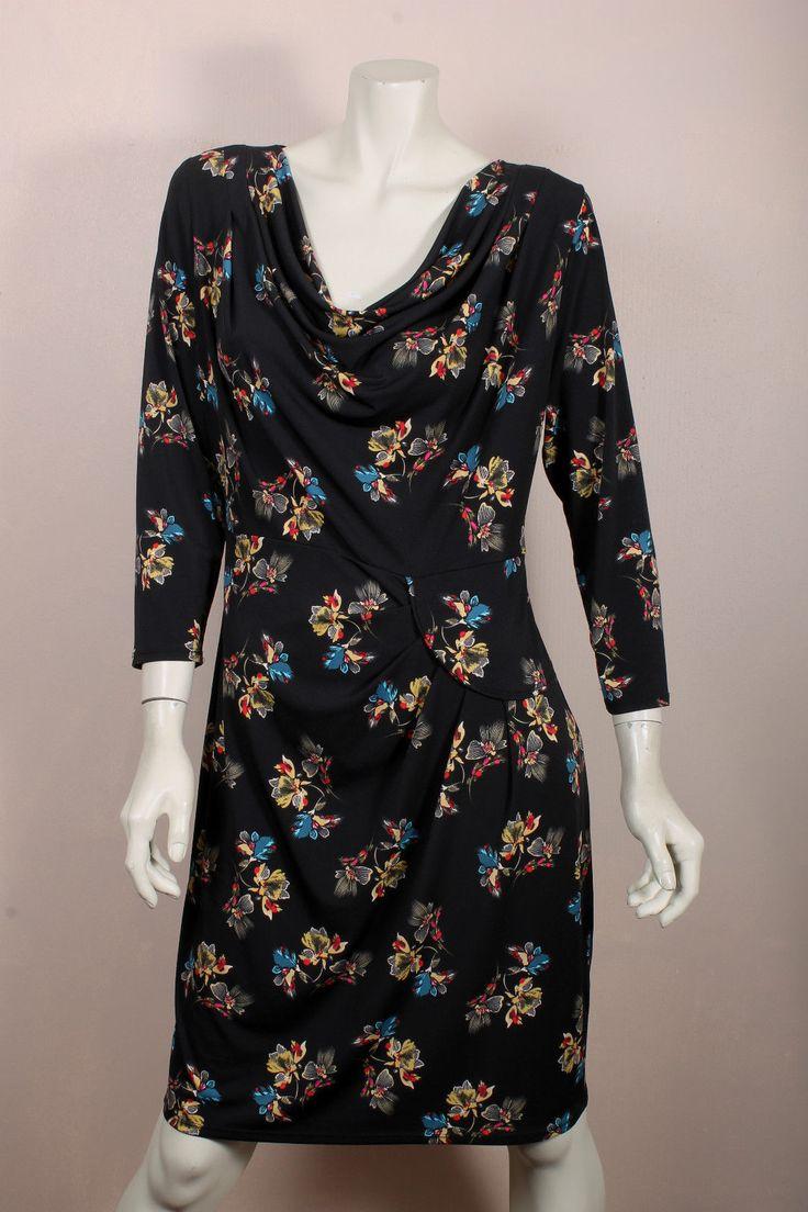 LEONA BY LEONA EDMISTON POLY ELASTANE FLORAL DRAPE DRESS SZ 14 in Clothing, Shoes, Accessories, Women's Clothing, Dresses | eBay