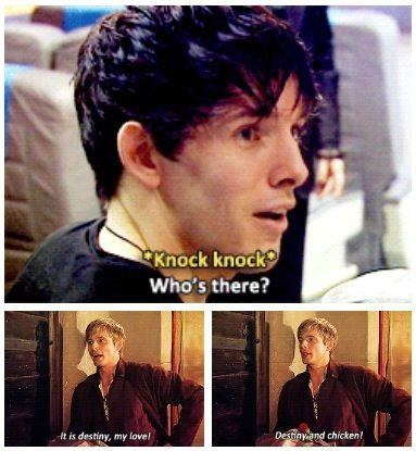 This. is. awesome. not sure to pin under doctor who or merlin... <<< Both. Both. Both is good.