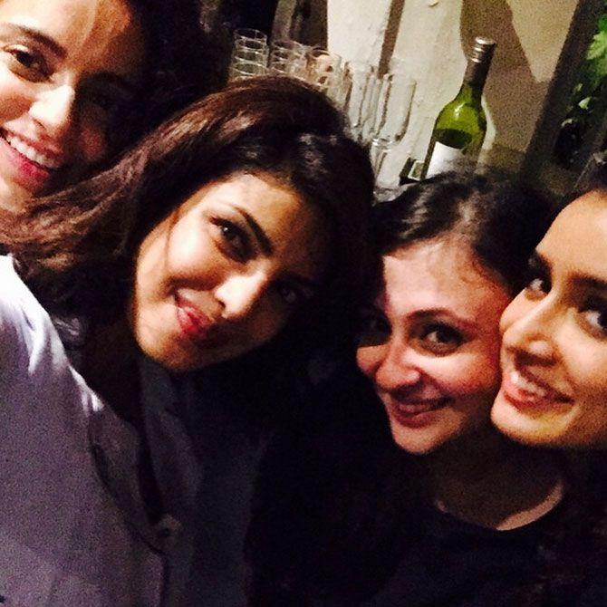 Priyanka Chopra, Kangana Ranaut, Shraddha Kapoor and Avantika at the National Awards celebrations party. #Bollywood #Fashion #Style #Beauty #Selfie #Instagram